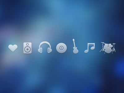 Music Icons music icons guitar speaker drums heart free download psd music icons free icons free psd free download freebie
