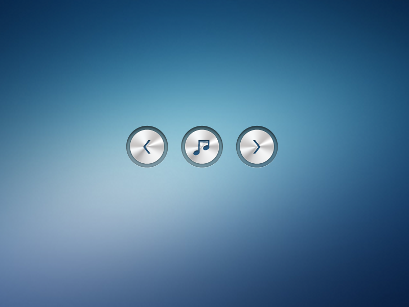 Metallic Buttons metal button music icon play download free psd metal button metallic button music button free psd free button freebie