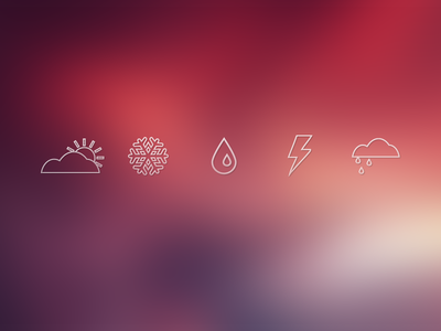 Weather Icons weather icons psd sun cloud snowflake thunder rain weather icons free icons free psd freebie