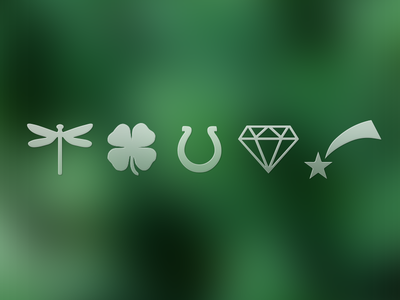 Lucky Charms free free psd free icons freebie icons lucky charm diamond horseshoe lucky charms lucky icons free download psd