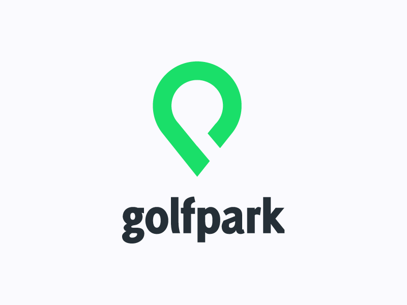 Golfpark Logo logo graphic design icon flat minimal golf