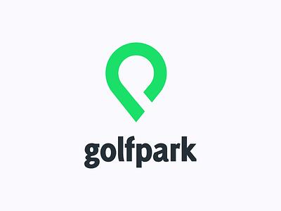 Golfpark Logo logo graphic design icon flat minimal golf