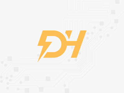 Donanım Haber Logo logo forum design graphic minimal web ui ux