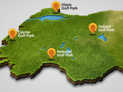 Golf Park Map logo icon map golf park turkey