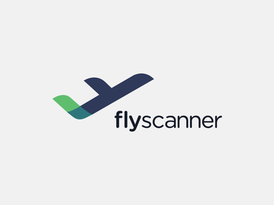 Fly Scanner logo icon fly airline design graphic pictogram airplane logotype