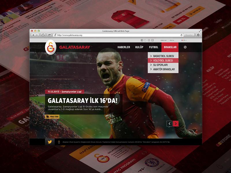 Galatasaray Sports Club galatasaray sport club web design football soccer ui ux