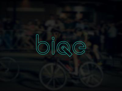 Biqe Bicycle bike logo bicycle design icon pictogram run motorcycle cycle