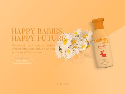 Baby Shampoo Slider animated gif mouse follow parallax webpage page header logo web baby