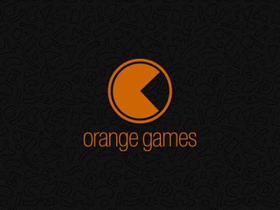 Orange Games orange game logo pacman