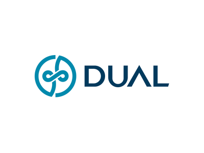 Dual Academy mono color school student academy dual logotype logo