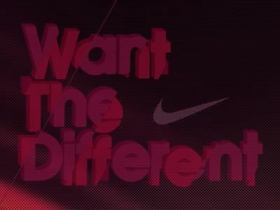 Want the different