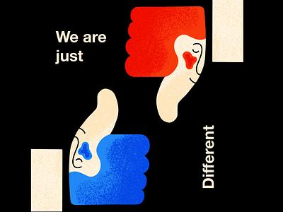 Thumbs up? confidence acceptance selfawareness digitalart illustration