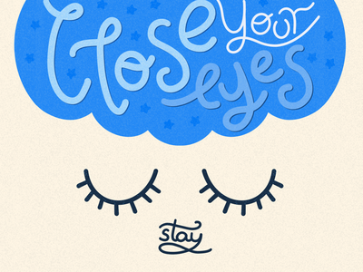 Just Close Your Eyes creative therapy breath close your eyes visual storytelling digital artist illustrations
