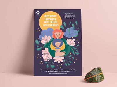 Parenting Mental Health Poster Illustration mental health awareness mental health parenting visual storytelling children illustrations digital art digitalart branding illustration