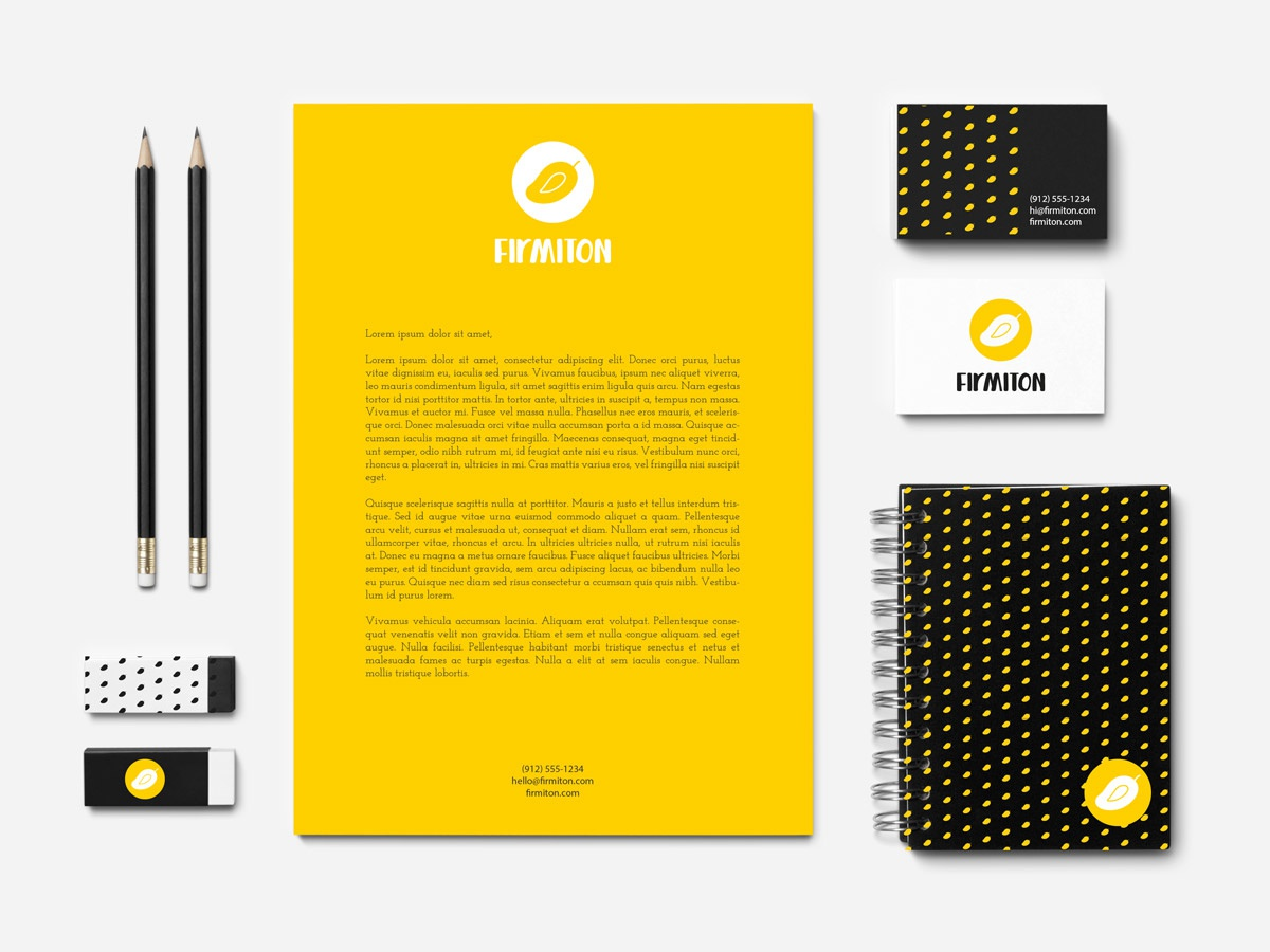 Branding for Firmiton yellow company mango
