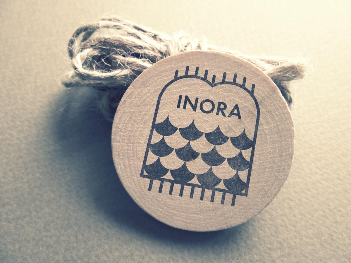 Inora Blankets logo mermaid blankets branding logo