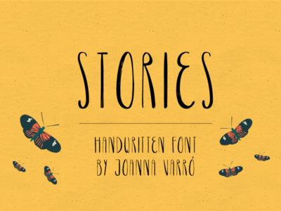 Stories Handwritten Font