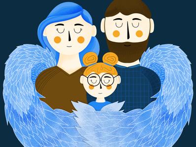 Good Angel Charity Illustration