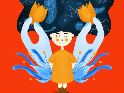 Help Children with Autism Charity Illustration