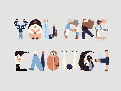 You ARE Enough visual storytelling character illustration digital art lettering illustration