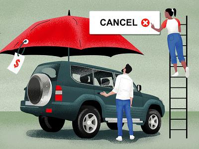 cancel car insurance blog financial finance green man vector character suv flat illustration flat  design flatdesign illustration woman texture flat insurance car