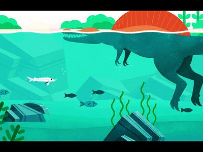 Sturgeon in the river conservation cyan green swim fish wwf wildlife spinosaurs dinosaur water river sturgeon