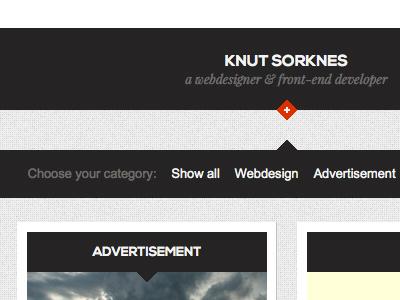 Web Design Header website menu navigation dark light clean minimalistic portfolio