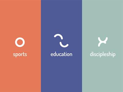 Mbutfu Community Centre Symbols identity design education sports symbols missions church branding vector church brand identity logo icons brand icon identity branding design
