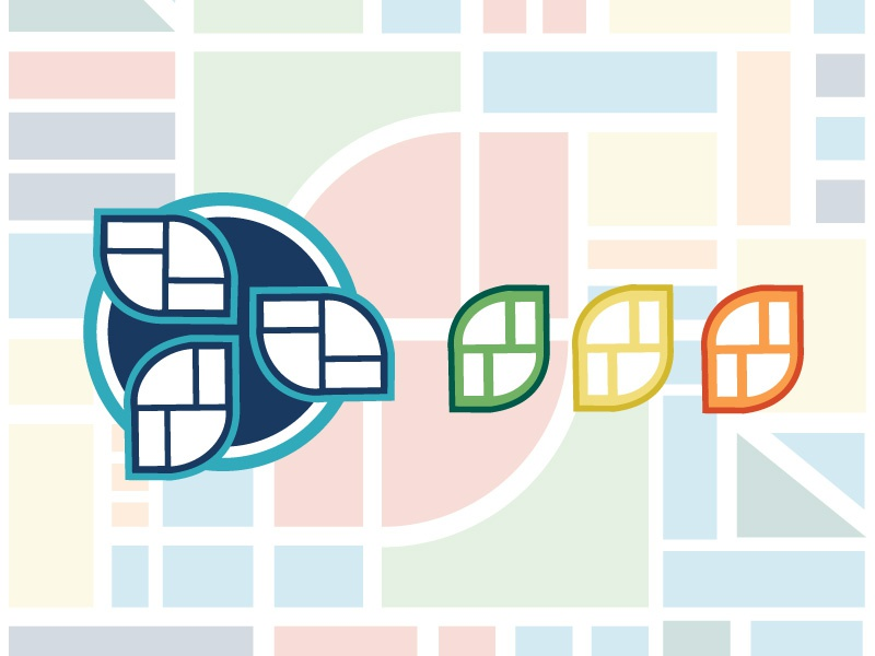 Groundwork for Growth Identity pattern planning revitalization city growth illustrator icon logo