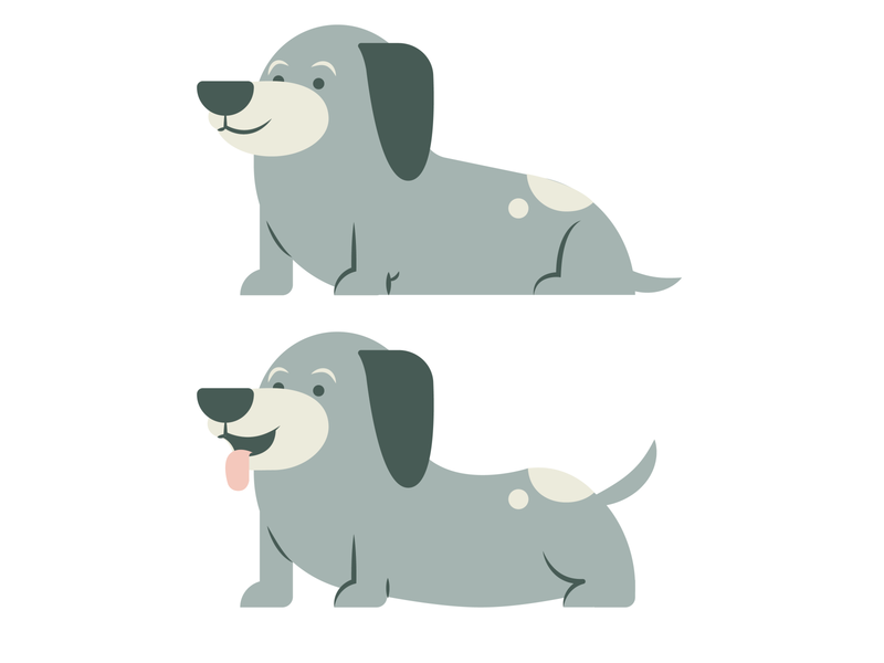 Dachshund Design dog illustration logo dachshund puppy dogs mascot character vector illustration illustrator graphic design design