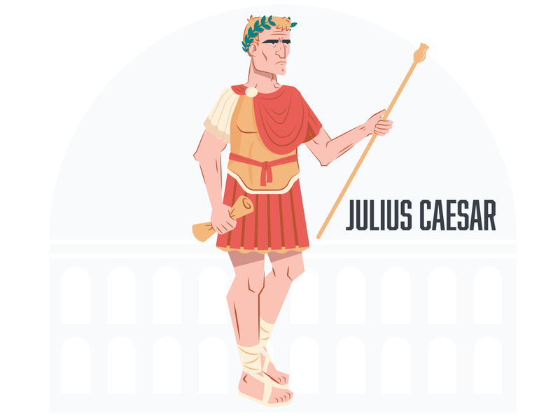 Julius Caesar world history ancient history ancient history graphic character illustration vector illustrator graphic design design julius caesar caesar julius rome ancient rome