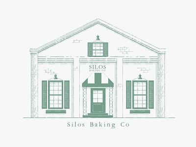 Silos Baking Co. branding logo illustration illustrator vector graphic design design