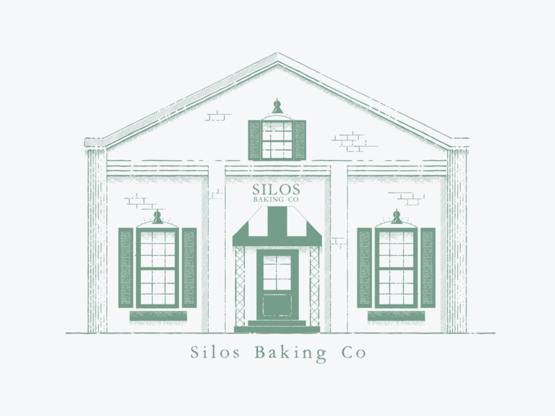 Silos Baking Co. branding logo illustration illustrator vector graphic design design