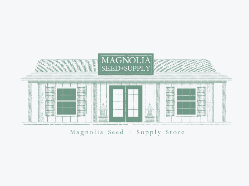 Magnolia Seed + Supply poster building hgtv fixer upper joanna gaines gaines texas garden waco branding adobe logo illustration vector illustrator graphic design design