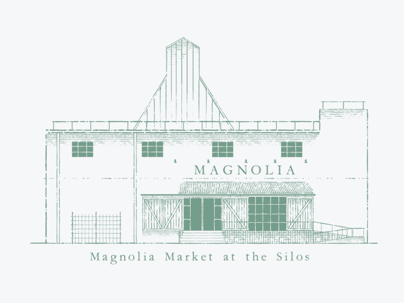 Magnolia Market at the Silos vintage ink poster storefront joanna gaines gaines fixer upper texas waco magnolia building store branding adobe illustration vector illustrator graphic design design