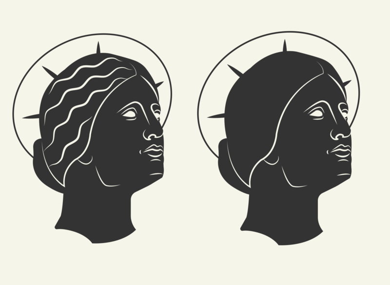 Ancient Coin Inspired Icon Mock up iconography statue icons greek rome ancient ancient rome icon branding logo adobe character illustration vector illustrator graphic design design