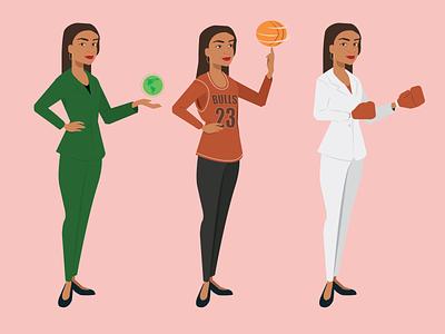 Alexandria Ocasio-Cortez Character Design concept woman character design ed markey ed markey motion graphics animation adobe illustration vector illustrator design graphic design character alexandria ocasio-cortez