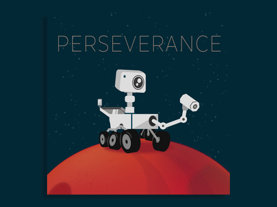 Perseverance cartoon life on mars solar system planet stars rover spaceship nasa perseverance mars space character design motion graphics animation character illustration vector illustrator graphic design design
