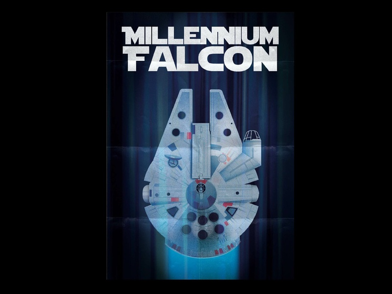 Millennium Falcon adobe illustrator vector graphic design poster disney star wars millennium falcon