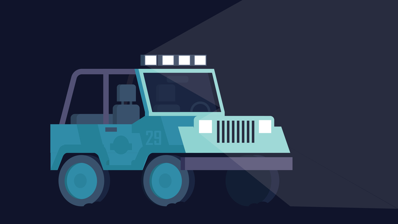 Jurassic Jeep motion graphics jurassic park jurassic adobe illustration vector graphic design design illustrator