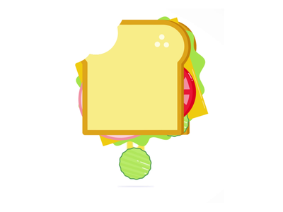Sandwich pickles pickle lunch sandwich motion graphics animation illustration vector graphic design design illustrator
