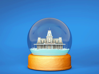 Main Street Snow Globe holiday christmas snow globe 3d illustrator disney world magic kingdom disney animation motion graphics cinema4d