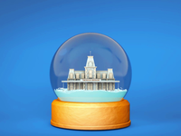 Main Street Snow Globe