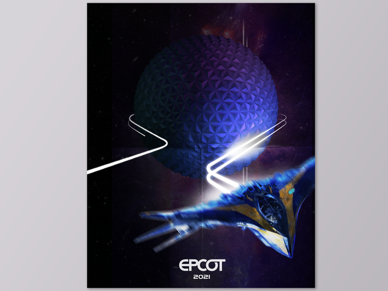 Guardians Of The Galaxy Epcot Poster vector design illustrator disney cinema 4d cinema4d photoshop graphic graphic design poster milano star lord peter quill fan art walt disney world disney world epcot