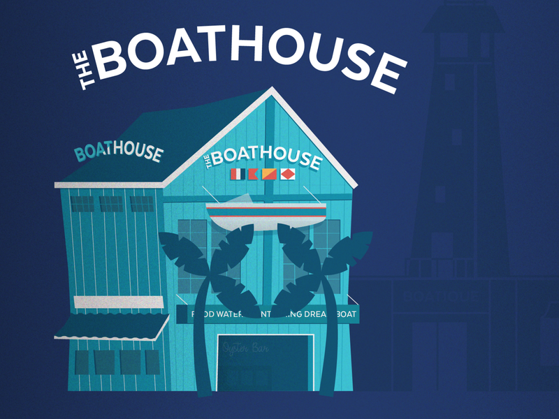 Disney Spring's The Boathouse boat nautical restaurant food disney world adobe illustration vector graphic design design illustrator disney art food allergies orlando downtown disney disney disney springs the boathouse