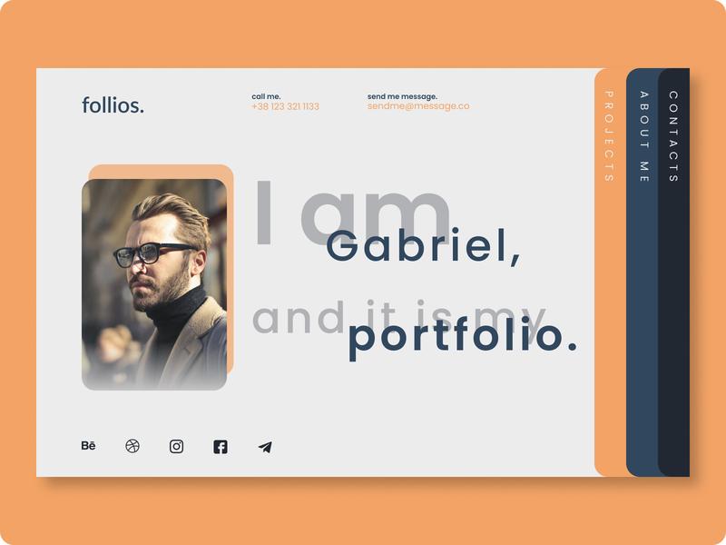 Portfolio Landing Page | Intro