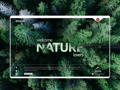 Nature Lovers - Web Design Concept