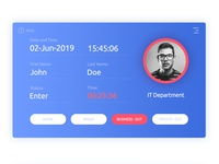UI Design - Time and attendance software
