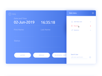 UI Design - Main menu - Time and attendance software