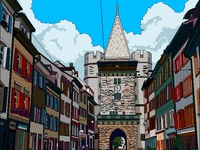 Switzerland medieval tower